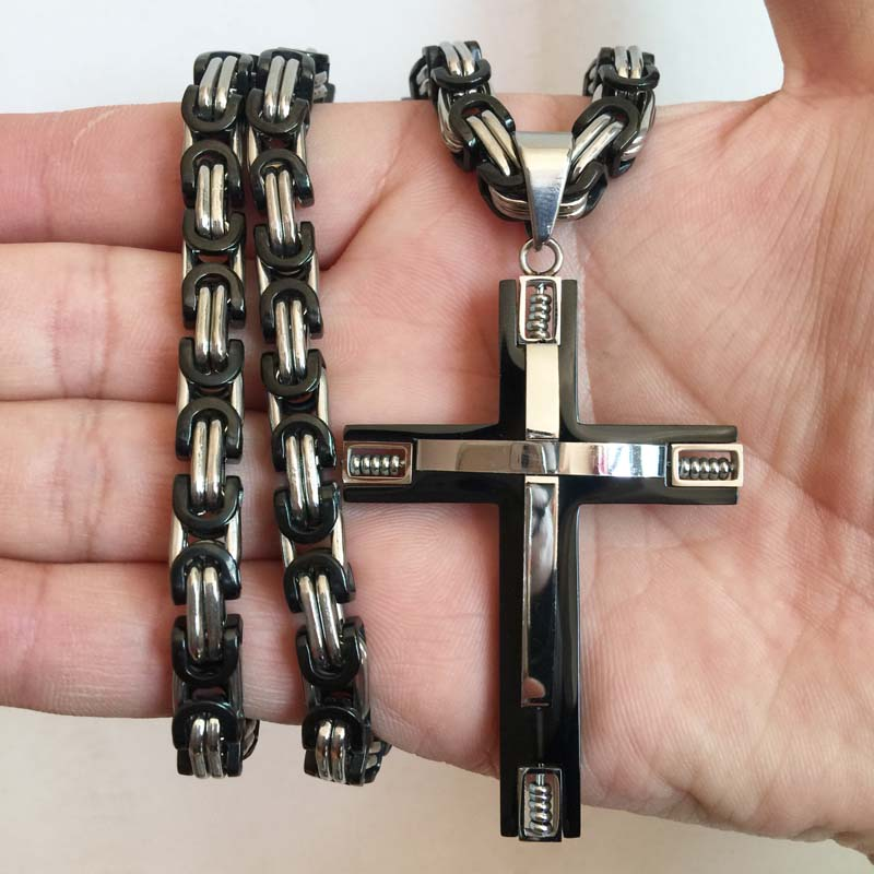 Industrial Cross Necklace