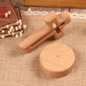 Solid Beech Wood Cross Stand
