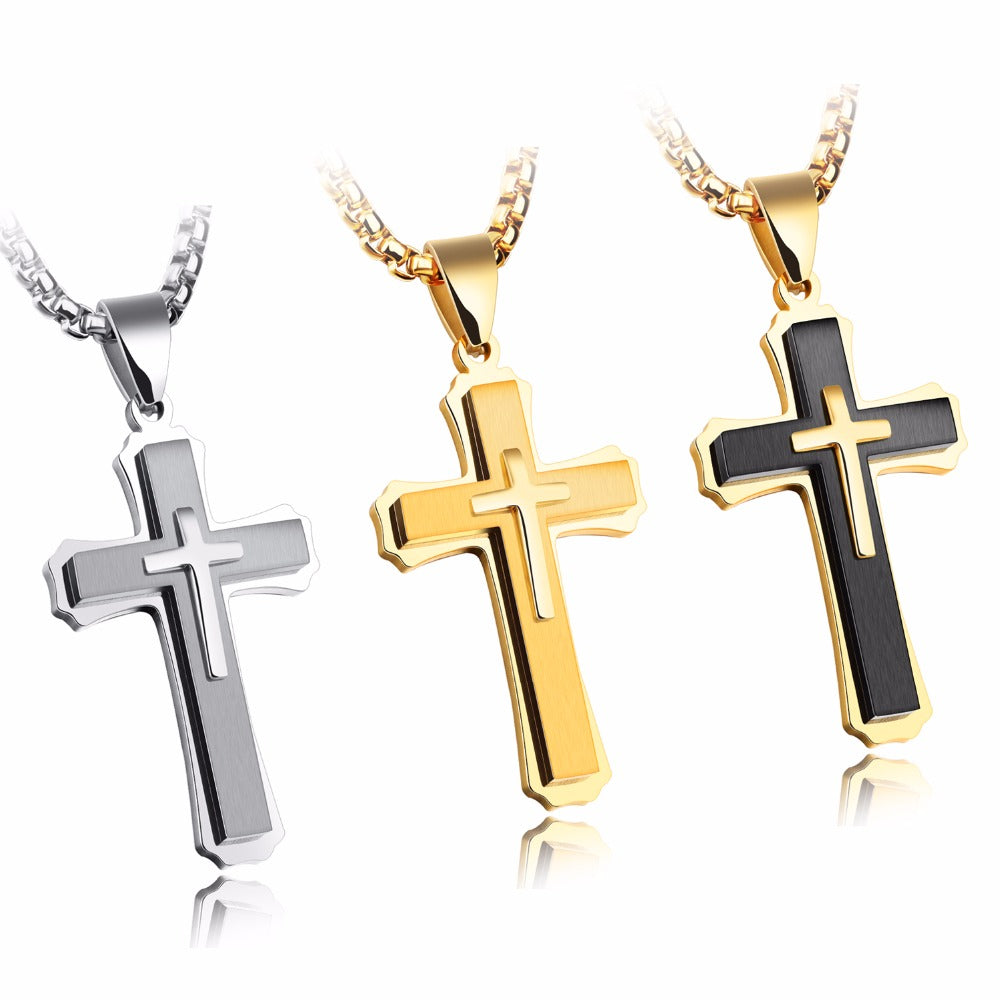 Modern Stainless Steel Cross Necklace