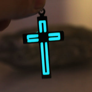 Fluorescent Cross Necklace