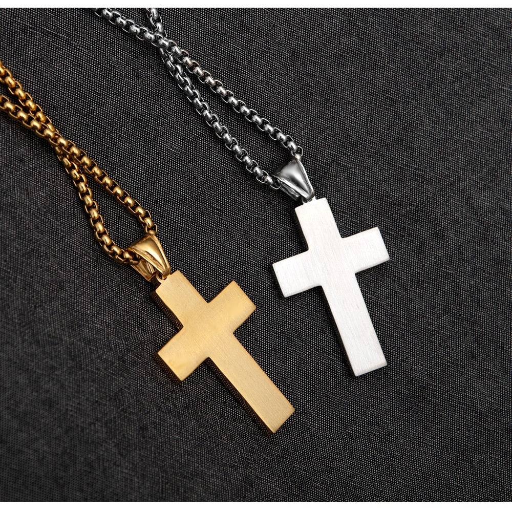 Proud American Cross Necklace