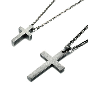 Silver Cross Necklace for Couples