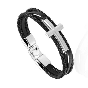 Unique Cross Leather Bracelet