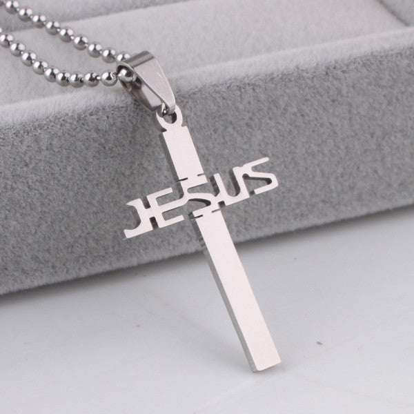 Jesus Encrypted Cross Necklace
