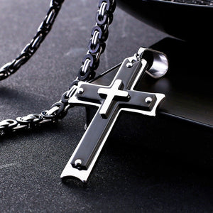 Divine Layer Cross Necklace