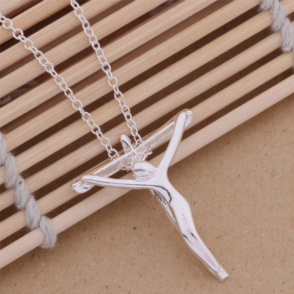 Modern Art Crucifix Necklace