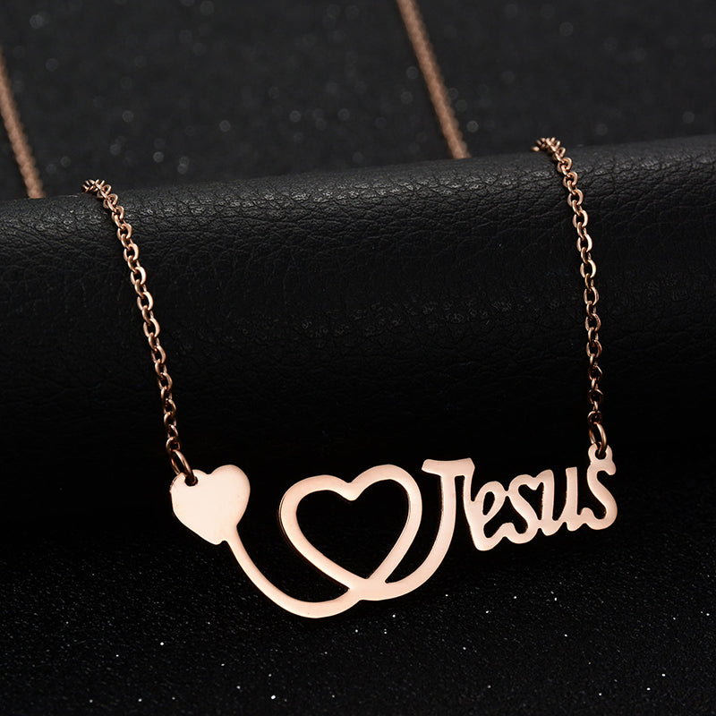Heart Jesus Necklace