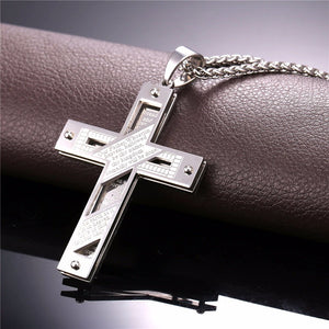 """Our Father"" Cross Pendant Necklace"