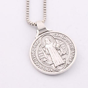 Crucifix Coin Necklace