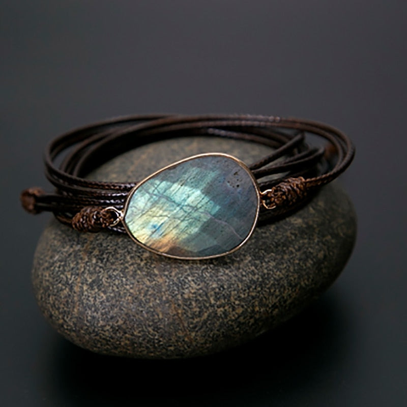 Handmade Bracelet with Labradorite Gemstone