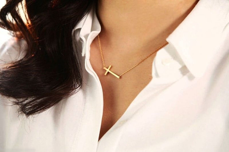 Sideways cross pendant necklace incredibly divine sideways cross pendant necklace aloadofball Gallery