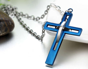 Beautiful Open Work Cross Necklace