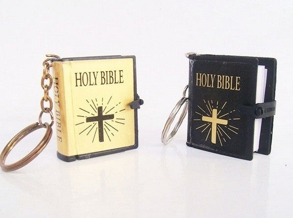 Mini Holy Bible Keychain in English