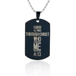 Christ Strengthens Me Necklace