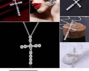 Crystal Stone Cross Necklace