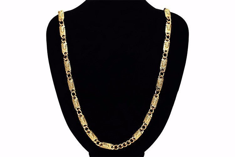 24K Gold Plated Jesus Chain Necklace