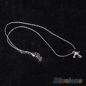 Crystal Rhinestone Infinity Cross Necklace
