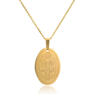 Vintage Virgin Mary Pendant Necklace