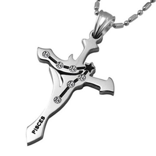 Zodiac Sign Cross Necklace