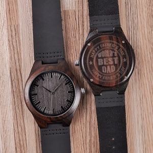 Customized Engraved Ebony Watch
