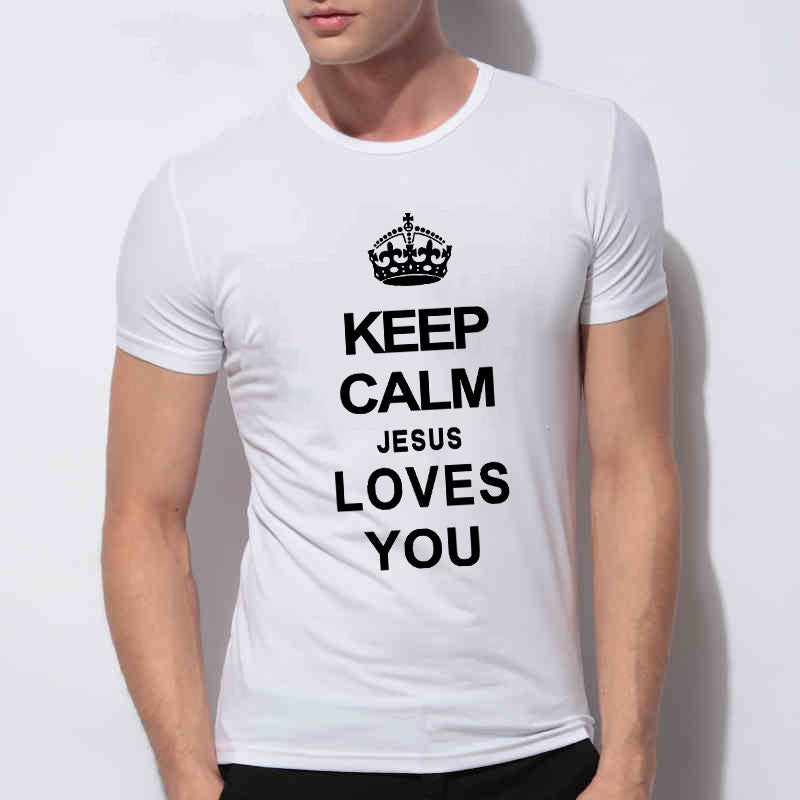 Keep Calm Jesus Loves You Men T-Shirt