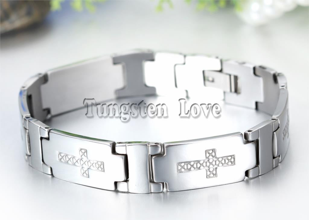 Charming Silver Bracelet with Engraved Cross