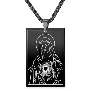 Divine Virgin Mary Necklace