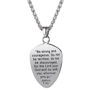 Joshua 1:9b – Shield Of Faith Necklace