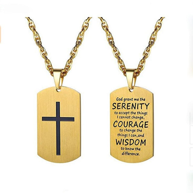 Bible Quote Dog Tag Necklaces