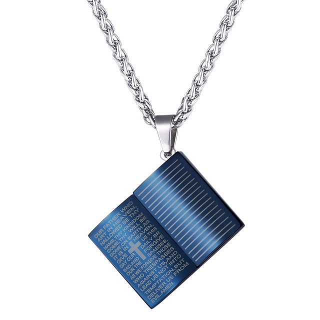 Lord's Prayer Holy Bible Necklace