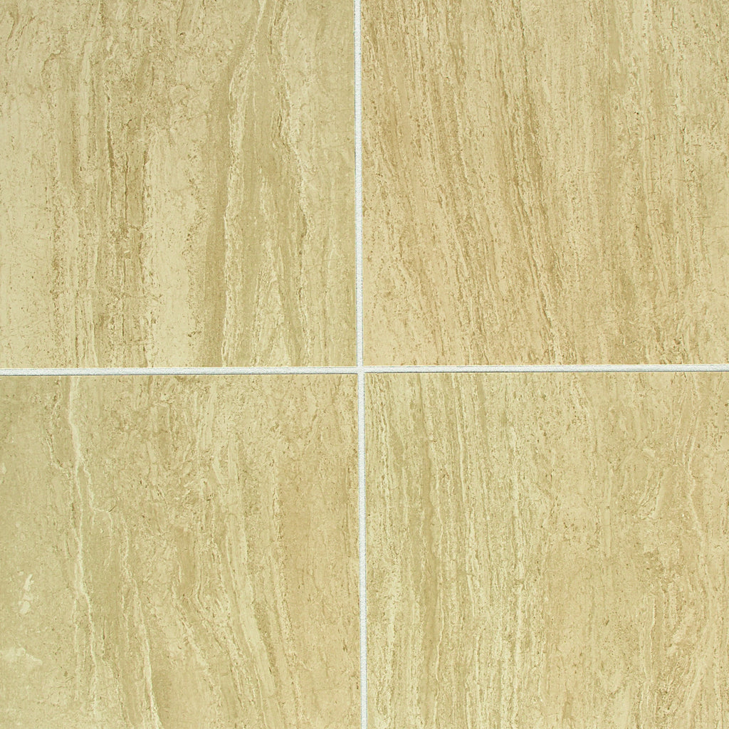 American Olean - CT16 12X12 CAPPUCCINO - Stone Look Porcelain - Specialty Tile