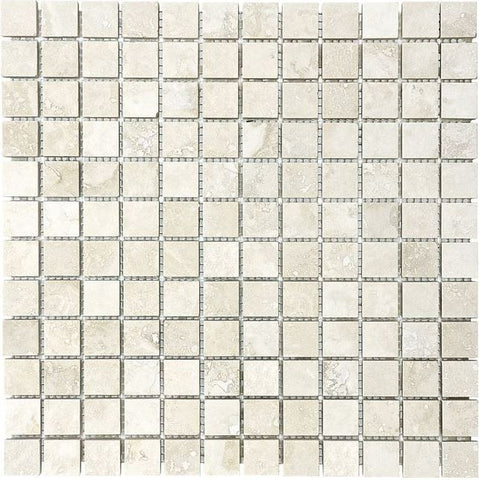 Anatolia - Ivory Trav 1x1 Mos F/H 1.0sf - Stone Look Porcelain - Specialty Tile
