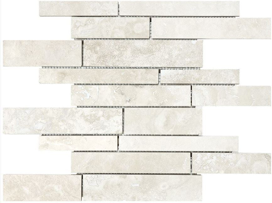 Anatolia - Ivory Trav Rand Strip Mos F/H - Stone Look Porcelain - Specialty Tile