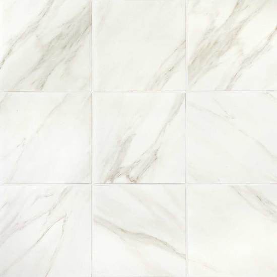 American Olean - ML72 12x12 F Silver Marble M - Stone Look Porcelain - Specialty Tile