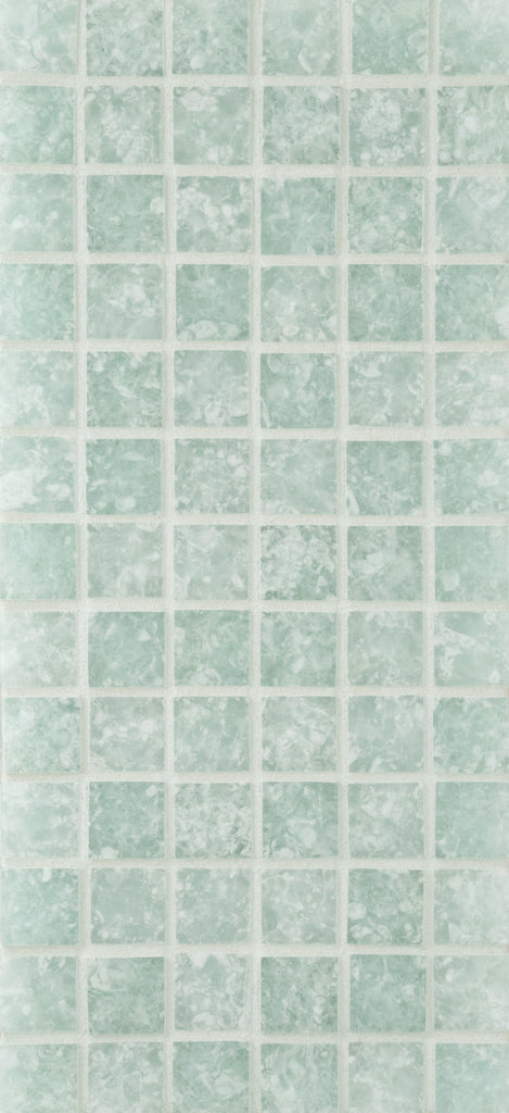 Ceramica Etc. - Equinox 1x1 #1 Green Blend - Glass Tile - Specialty Tile