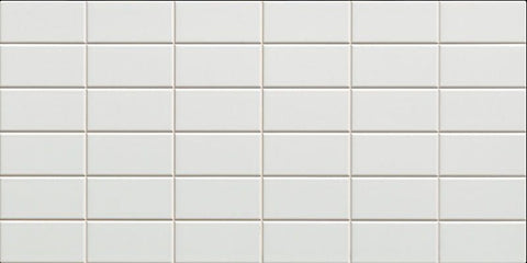 Lea - Extra White 2x4 Brick (Scored 12x24) - Ceramic Wall Tile - Specialty Tile