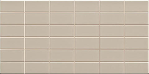 Lea - Warm Grey 2x4 Brick (Scored 12x24) - Ceramic Wall Tile - Specialty Tile