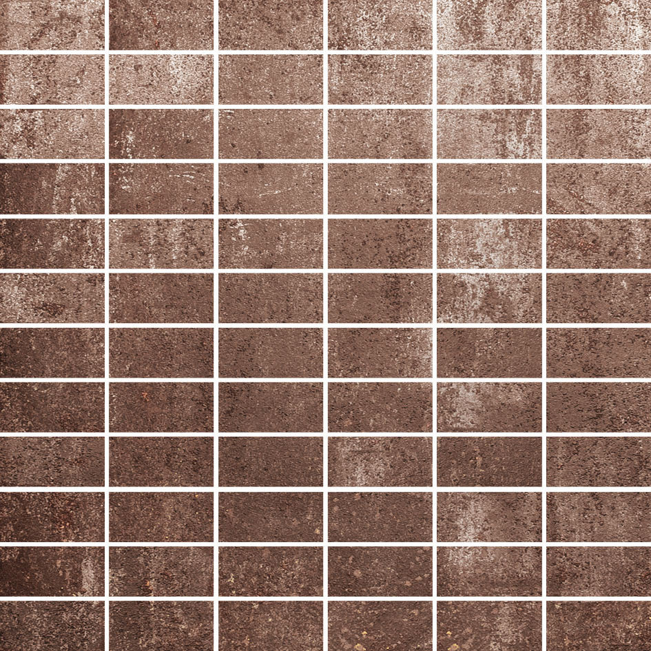 Mirage - Oxy OX08 1x2 MS Warm Brown Mattoncino - Metal Look Porcelain - Specialty Tile