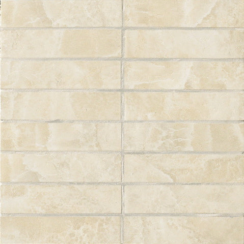 Vallelunga - Onyx Almond 1.4x6 List (1.0sf) - Stone Look Porcelain - Specialty Tile