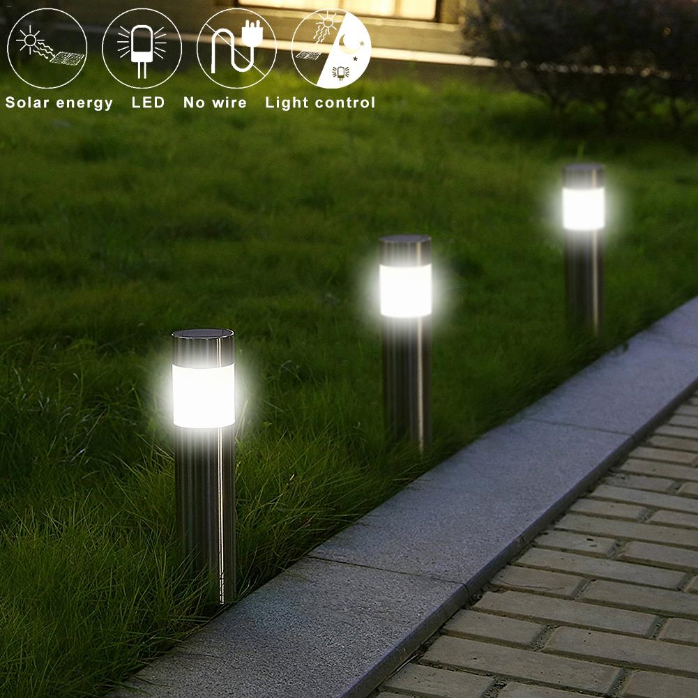 FREE Shipping - Stainless Steel Led Solar Lawn Lamp Outdoor Garden