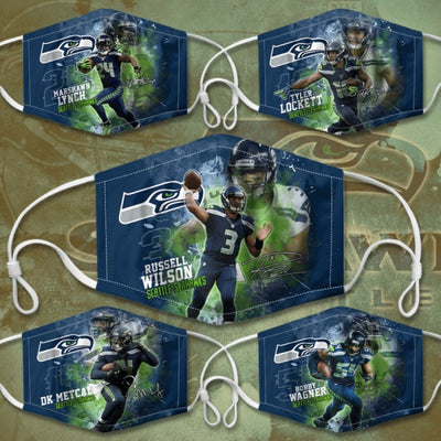 Seahawks 5PCS Set Mask