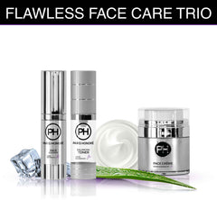 Flawless Face Care Trio Skin Care Regimen by PARIS HONORÉ Luxury Organic Skin Care