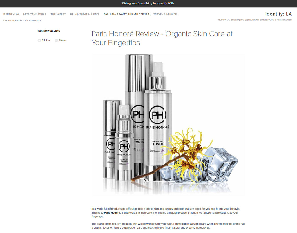IdentifyLA Interviews COO, Cyndi M. Frick and Recommends Paris Honoré Luxury Organic Skin Care