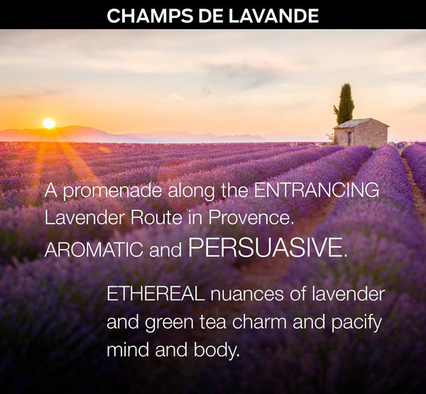 CHAMPS DE LAVANDE - a Bespoke Fragrance Offering from PARIS HONORE the World's Finest Luxury Organic Skin Care