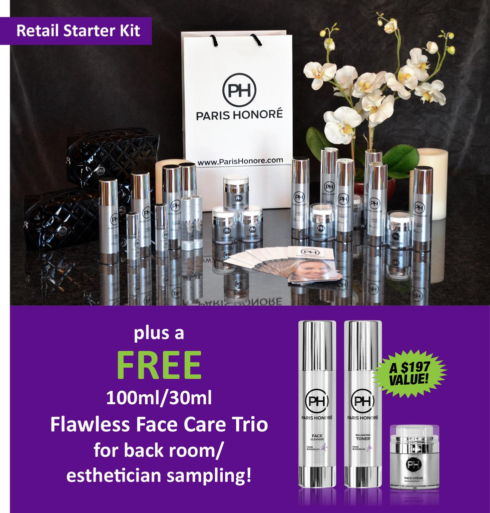 PARIS HONORÉ Retailer Starter Kit for Distributors, Spas, Salons, Retailers