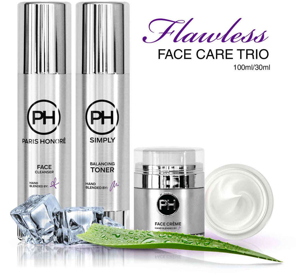 PH Simply Flawless Face Care Trio Skincare Set 100ml/30ml