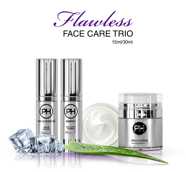 PH Simply Flawless Face Care Trio Skincare Set 15ml/30ml