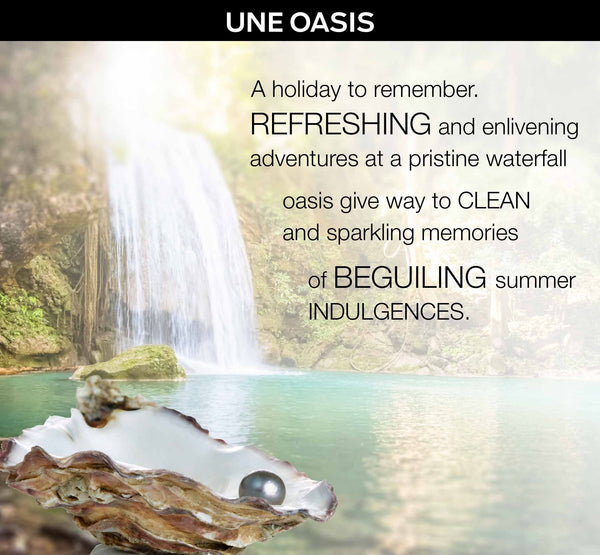 UNE OASIS - a Bespoke Fragrance Offering from PARIS HONORE the World's Finest Luxury Organic Skin Care