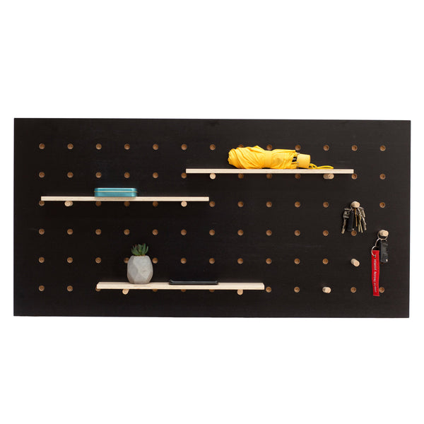 Wandregal Pegboard horizontal, schwarz