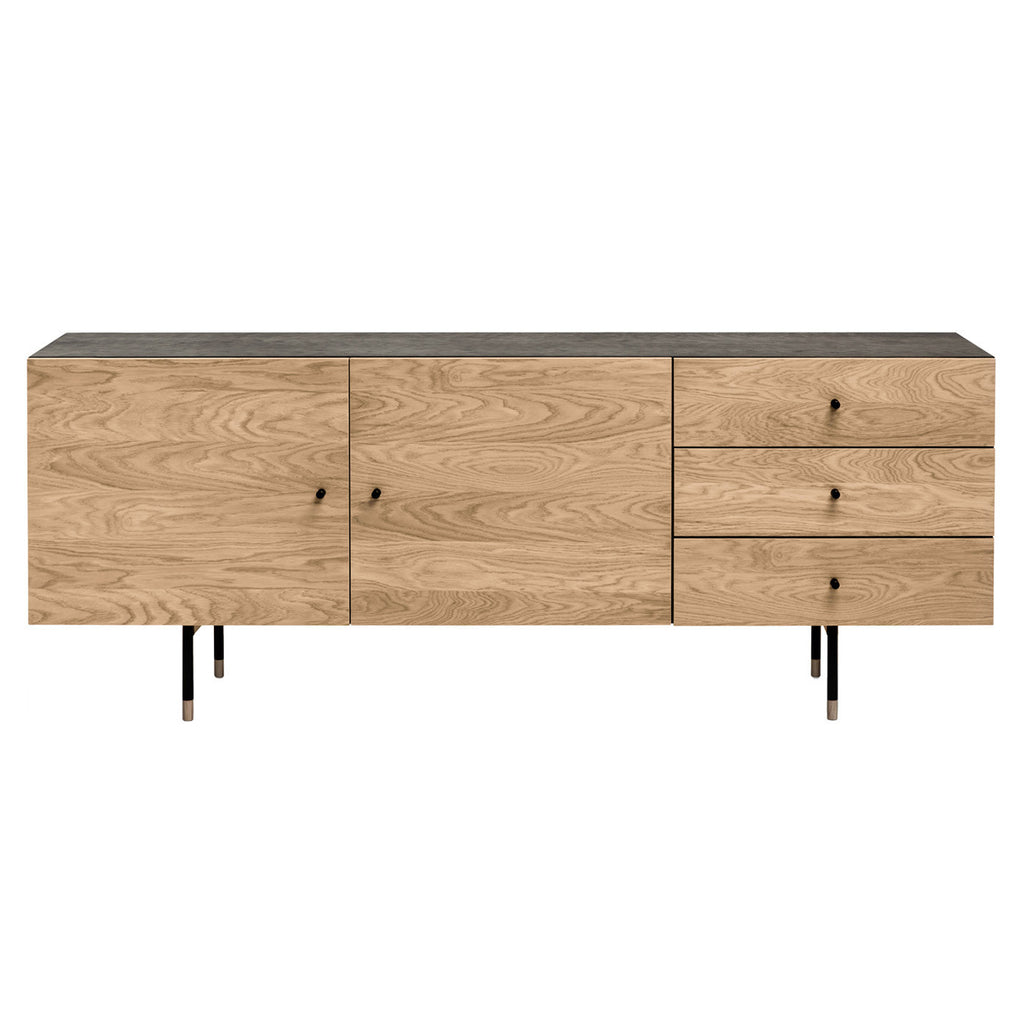 sideboard youth woodman schwarz b 180 cm x h 70 cm x t 48 cm m bla. Black Bedroom Furniture Sets. Home Design Ideas